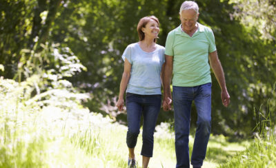 Couple Walking - Aging Solutions